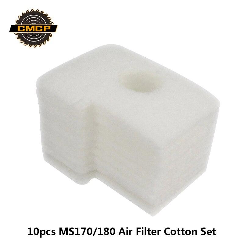 10pcs MS170/180 Air Filter Cotton Kit For Chainsaw Mower Cotton Foam Set