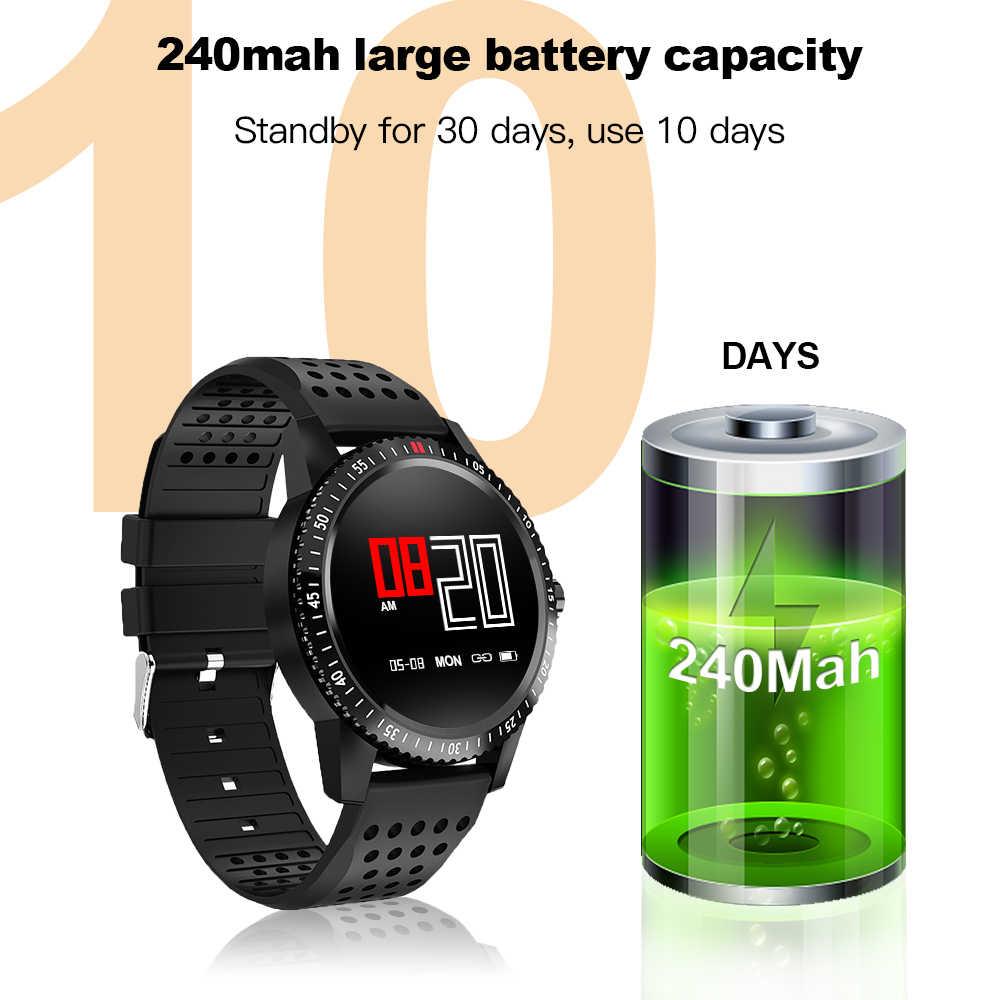 Smartwatch IP67 Su Geçirmez Giyilebilir Cihaz nabız monitörü Spor Bilezik Erkekler Kadınlar akıllı saat Android IOS için Saatler