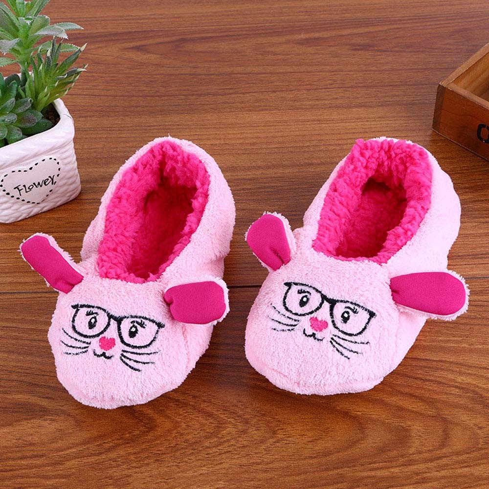 Winter Cute Slipper Soft Cartoon Christmas Snowman Elk Big Feet Warm Home Floor Slippers Indoor No Slip Flats Shoes for Women