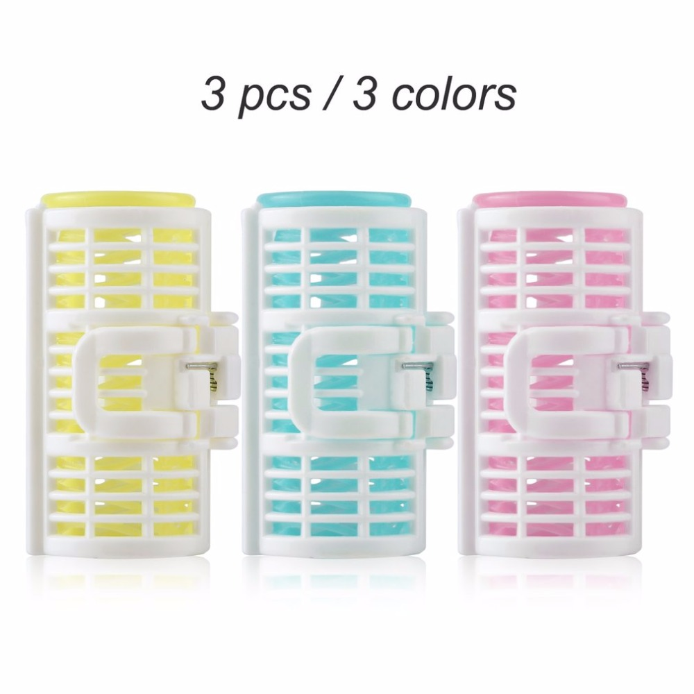 3pcs/lot Hair Curler Spring Clip Grip Rollers DIY Hairstyle Home Use Salon Magic Bangs Hair Curler Roll Beauty Hair Styling Tool