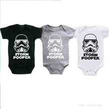 Letter Star Wars Storm Pooper Toddler Infant Jumpsuit Kid Baby Girl Boy Print Cloth Casual Outfits Playsuit Short Sleeve Romper