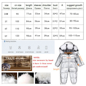 Image 5 - 2020 Boy Baby Jacket 80% Duck Down Outdoor Infant Clothes Girl Boys Kids Jumpsuit 2~5y Russian Winter Snowsuit warm baby clothes