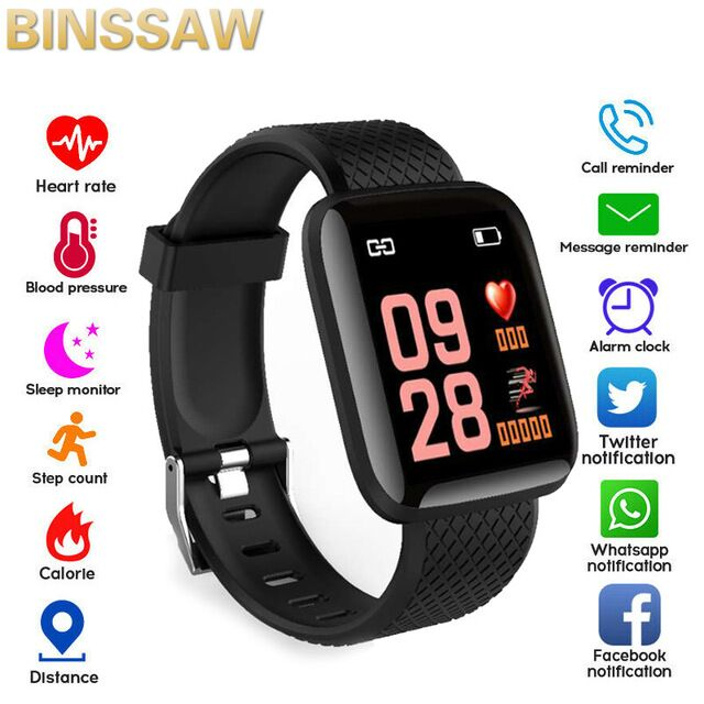 BINSSAW New Smart Watch Men Women Heart Rate Monitor Blood Pressure Fitness Tracker Smartwatch Sport Watch For Ios Android Phone
