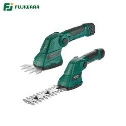 Tijeras de podar eléctricas FUJIWARA 7,2 V batería de litio recargable cortadora de setos herramienta de recorte de césped