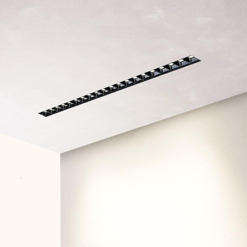 Unidade de leds não visíveis linear magnético design simples 0-10v led escurecimento embutido trimless luz 30 °. 90Ra