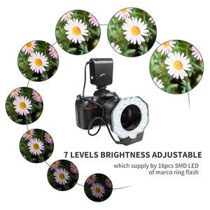 Image 5 - SCHIEßEN Led Macro Ring Flash Light für Canon 650D 6D 5D Nikon D3200 D3500 D5300 D7100 D7500 Olympus e420 Pentax k5 K50 DSLR Kamera