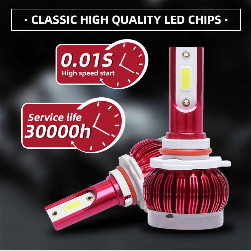 Car Led Headlight 16000LM H1 H3 H7 H8 H9 H11 9005 HB3 9006 HB4 9012 HIR2 H4 9003 HB2 Hi/Lo 9004/HB1 9007/HB5 9008/H13 Auto Lamp