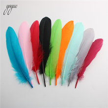 wholesale 30 pcs/lot Dyed Natural Goose Feather Decoration 6-8 inches 15-20 CM DIY clothing accessories plumes