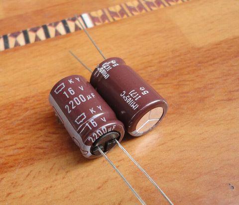 Capacitor de Alta Eletrolítico de Alumínio Lote Original Japão Nippon ky Série 105c Freqüência Capacitor Frete Grátis 50 Pçs –