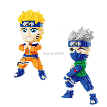 hot LegoINGlys creators Hokage ninja anime Naruto Uzumaki Hatake Kakashi figures mini micro diamond block model nano bricks toys
