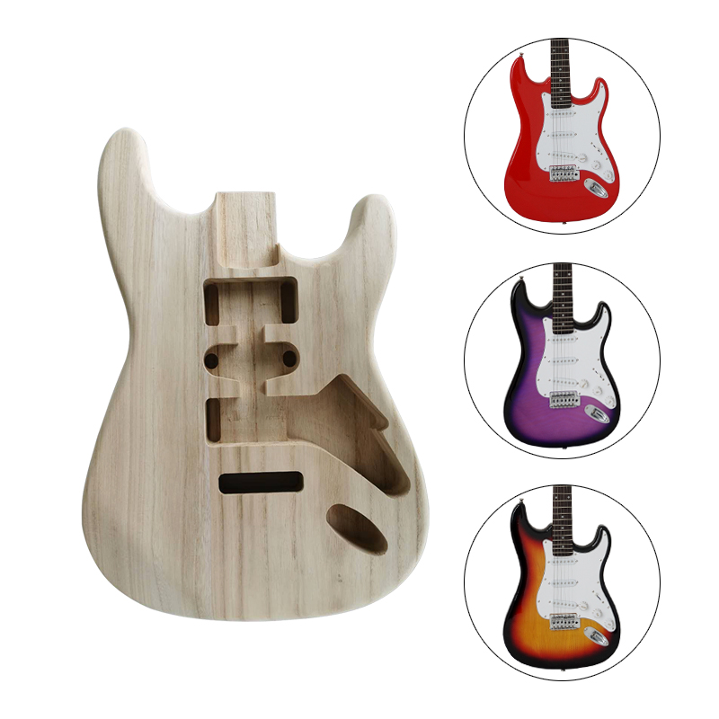 Unfinished Handcrafted ST Electric Guitar Body Guitar Barrel Replacement Parts For ST Style Electric Guitars DIY Parts