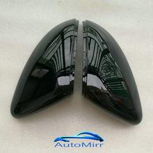 Schwarz Seite Flügel Spiegel Abdeckung für VW Golf 7,5 MK7 7 GTD R GTI 6 Passat B7 CC Scirocco E-GOLF polo 6R 6C MK6 Kappe für Jetta 6 MKVI