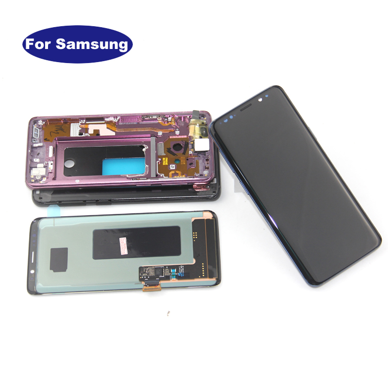 Digitizer Touch-Screen S9-Display G960 G965 Samsung Galaxy Plus Frame Super-Amoled  title=