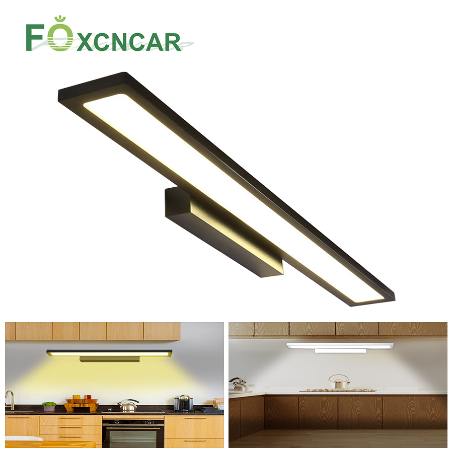 220V LED Lighting For Under Kitchen Cabinets Luces LED Decoracion Dormitorio Wardrobe Closet Night Light For Bathroom Wall Lamp