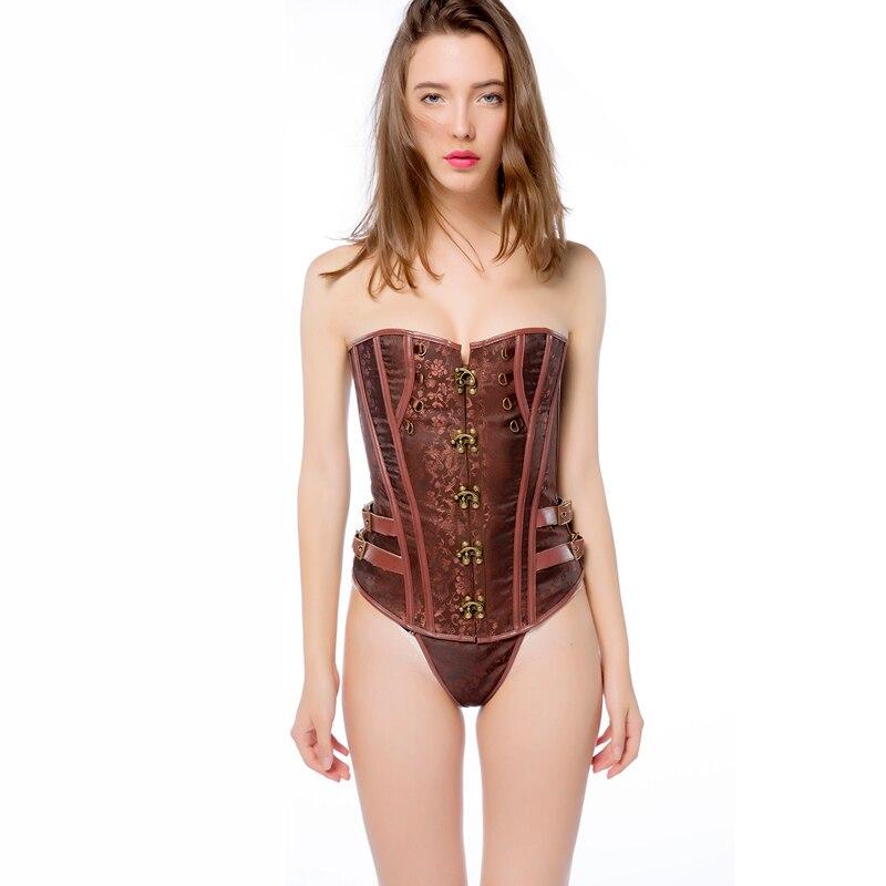 2019 sexy fashion gothic steampunk corset bustier sexi burlesque lingerie woman style women bodice basque