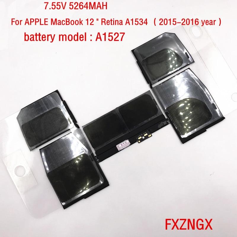 7 55V 5264MAH New A1527 Battery for font b Apple b font font b MacBook b