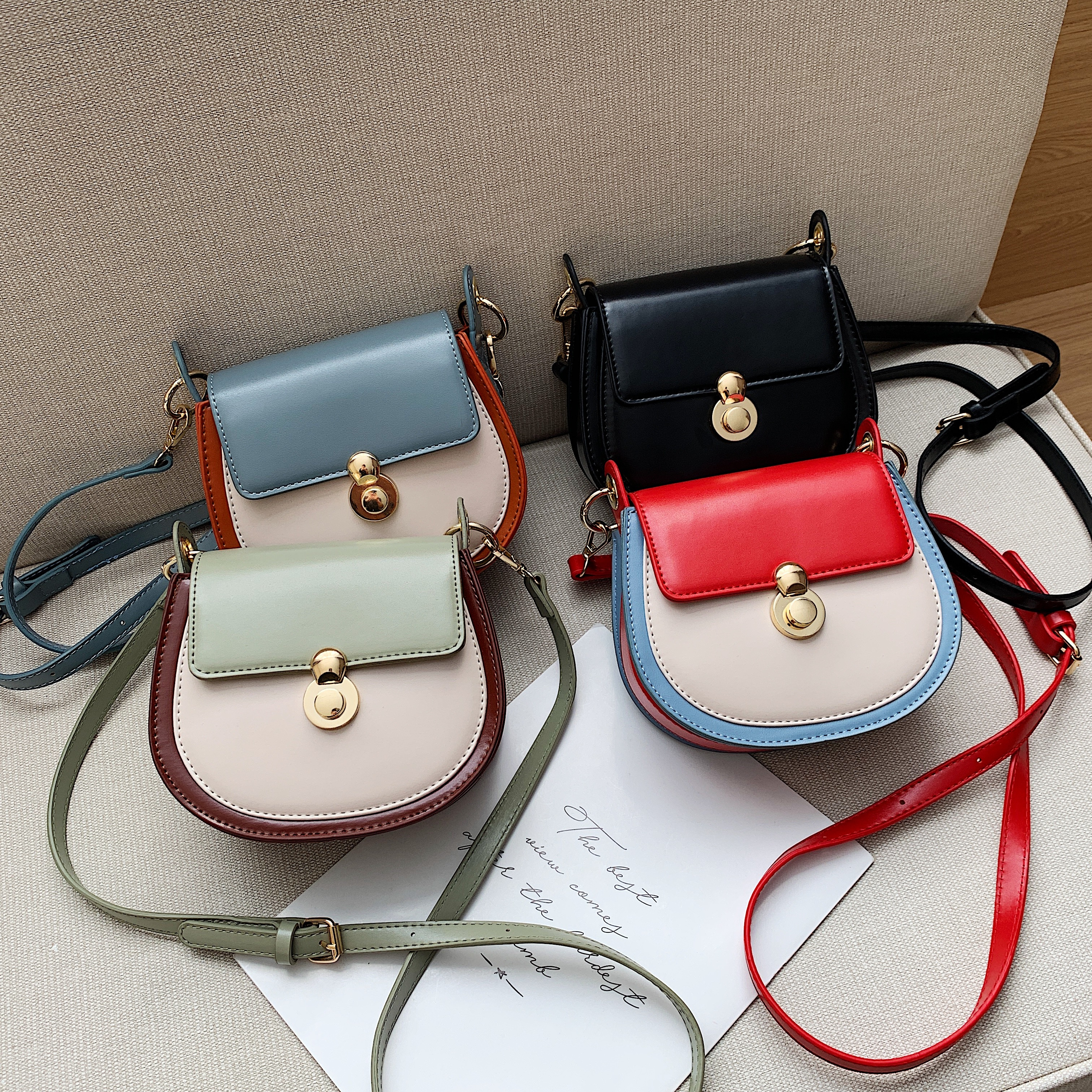 Contrast Color Small Crossbody Bag 10