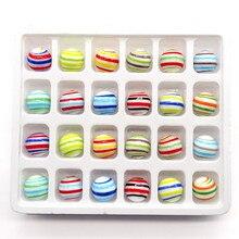 Custom decorative glass Marbles balls 16mm colorful handmade wire winding pellet aquarium vase decor children puzzle game toys