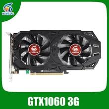 Veineda placa de vídeo gtx 1060 3gb 192bit gddr5 placas gráficas para nvidia vga geforce série jogos placas de vídeo