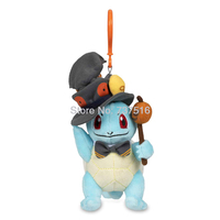 New Anime keyring Jack Light Lantern Top cane Squirtle Pumpkin Parade Plush Keychains Soft key chain Halloween Doll Toy 7.2 Inch