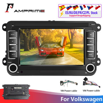 AMPrime 2Din Android Car Radio GPS 2din Car Multimedia Player Autoradio For VW/Volkswagen/Golf/Passat/SEAT/Skoda/Polo car Stereo image