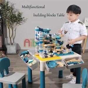 Image 5 - Mesa de madera para niños, mesa de estudio multifuncional, mesa de juego para niños compatible con partículas grandes