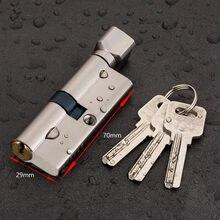 Door Cylinder Lock Biased 70mm 3 Keys Anti-Theft Entrance Brass AB Door Lock Home Security Interior Bedroom Lock Cylinder