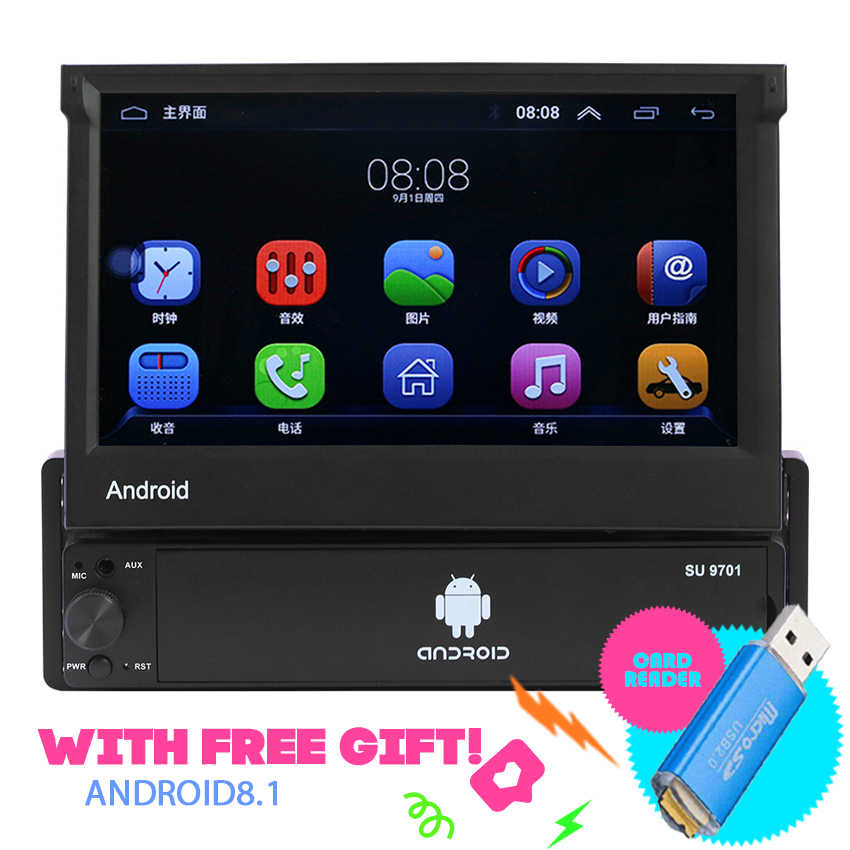 7'' Android Car Radio Stereo GPS Navigation Subwoofer Bluetooth USB SD 2 Din Touch Car Multimedia Player Audio Player Autoradio