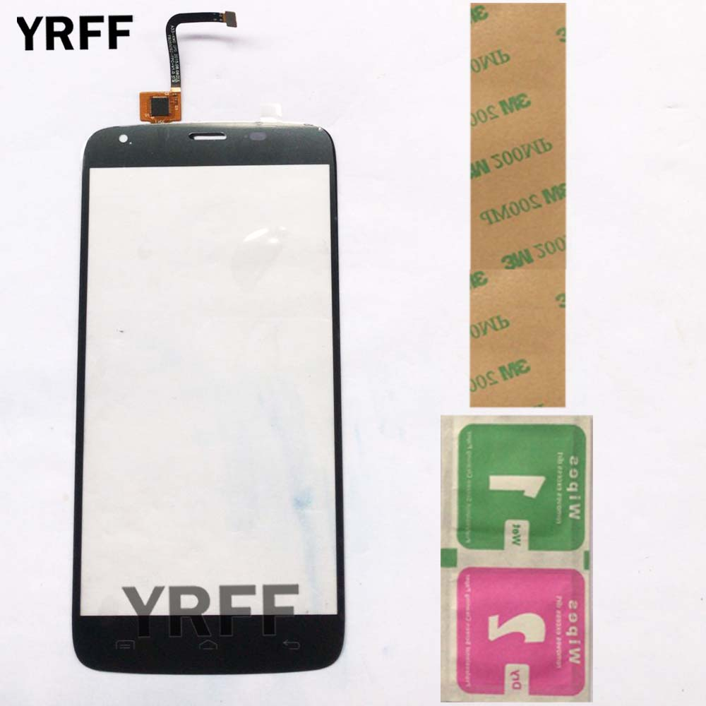 Phone Touch <font><b>Screen</b></font> Panel For <font><b>Homtom</b></font> <font><b>HT6</b></font> Touch <font><b>Screen</b></font> Glass Panel Digitizer 5.5'' Replacement Lens Sensor 3M Glue Wipes image