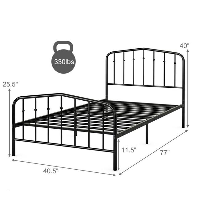 Twin Size Metal Bed Frame  2