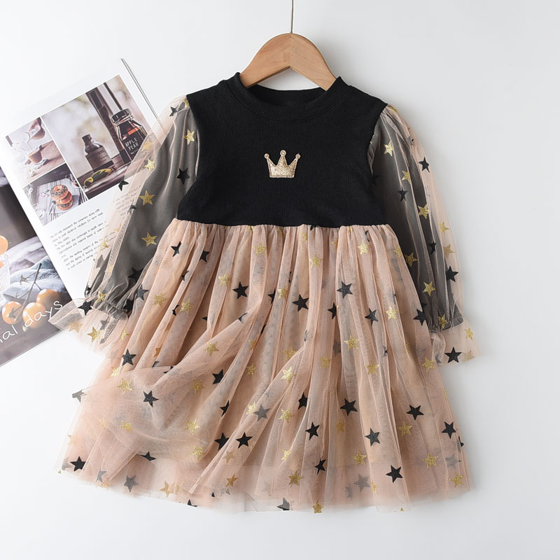 Melario Girls Sweaters Dress Spring Autumn Long Sleeve Princess Dresses Children Hoodie Clothes Pleated Dress Girls Clothes