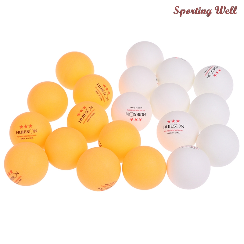 10pcs New Material Table Tennis Ball 40+mm Diameter 2.8g 3 Star ABS Plastic Ping Pong Balls for Table Tennis Training