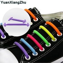 Semicircle Silicone Shoelaces New  Elastic Shoelace Special No Tie for Men Women Shoe Laces Rubber Zapatillas