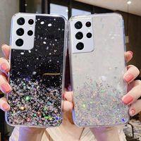 Luxus Bling Glitter Telefon Fall Für SAMSUNG Galaxy S8 S9 S10 S10E S20 FE S21 S30 PLUS Ultra Fan Edition zurück abdeckung für SAMSUNG