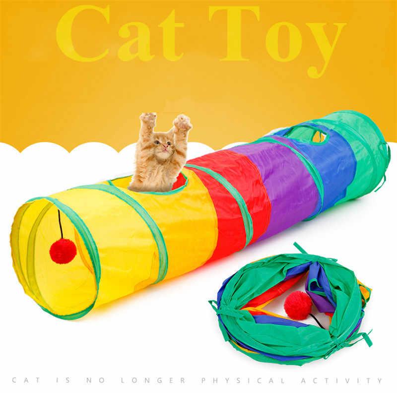 실내 2/3/4 5 방향 접을 수있는 고양이 터널 튜브 키티 터널 지루한 고양이 애완 동물 장난감 엿보기 구멍 장난감 고양이 강아지 키티 새끼 고양이 토끼