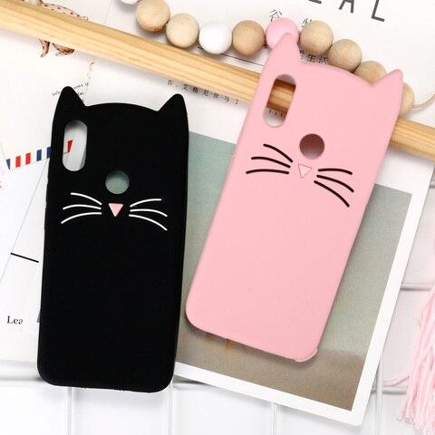 Case For Xiaomi Redmi Note 7 6 5 Pro Cases Redmi 6A 5A 3D Cute Cat Silicone Cover Xiaomi Mi 8 9 SE Lite Pocophone F1 Case Bumper Lahore