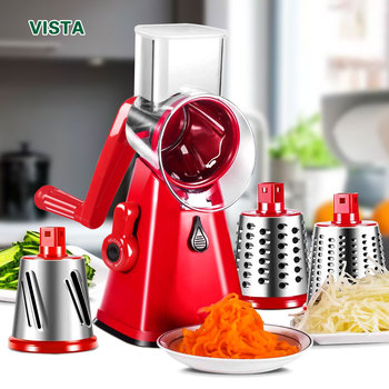 Manual Vegetable Cutter Slicer Kitchen Accessories Multifunctional Round Rotate Mandoline Slicer Potato Cheese Kitchen Gadgets 1