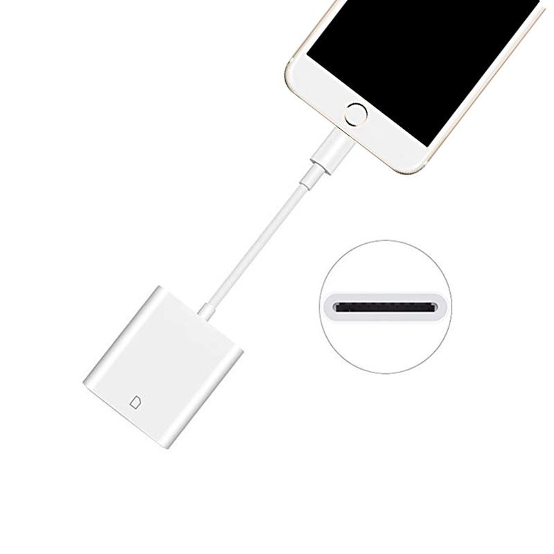 Lecteur de Carte SD Lecteur Carte pour iPhone X XR XS MAX 8 7 Plus 11 Cardreader Czytnik Kart pour iPad Pro 9.7 10.5 lecteurs Kaartlezer