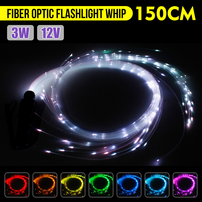 LED  Light DC12V 3W LED Fiber Dance Whip 360 Degree Flashlight 40 Modes Light Shows EDM Music Festival Commercial Lighting