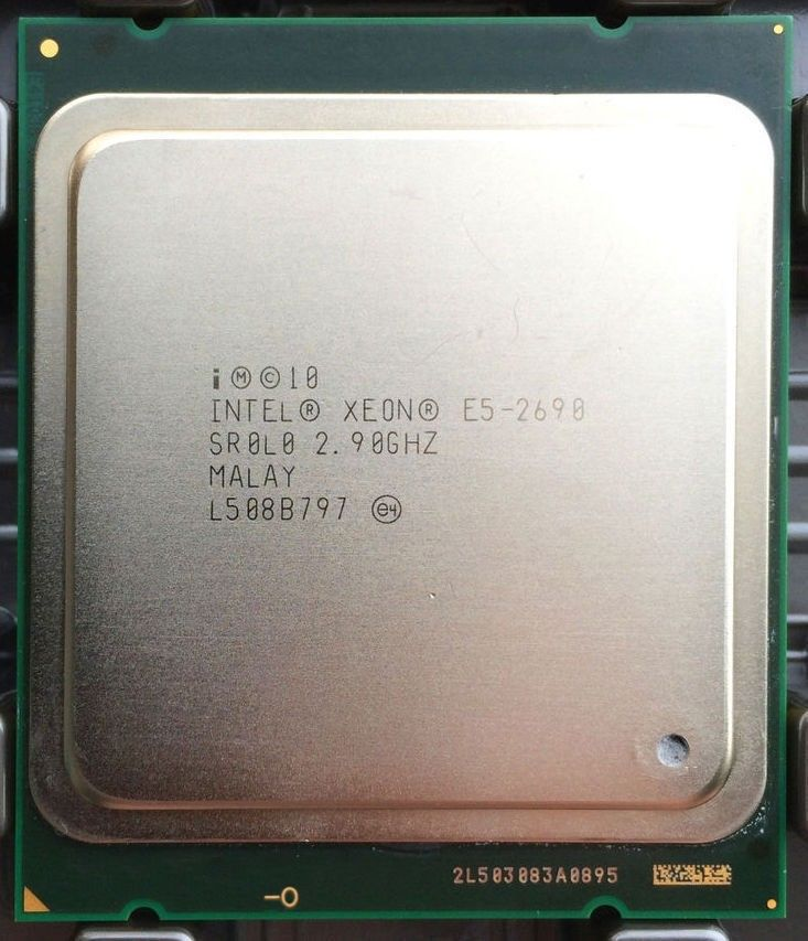 intel Xeon E5 2690 Processor 2.9GHz 20M Cache LGA 2011 SROLO C2 server CPU 2