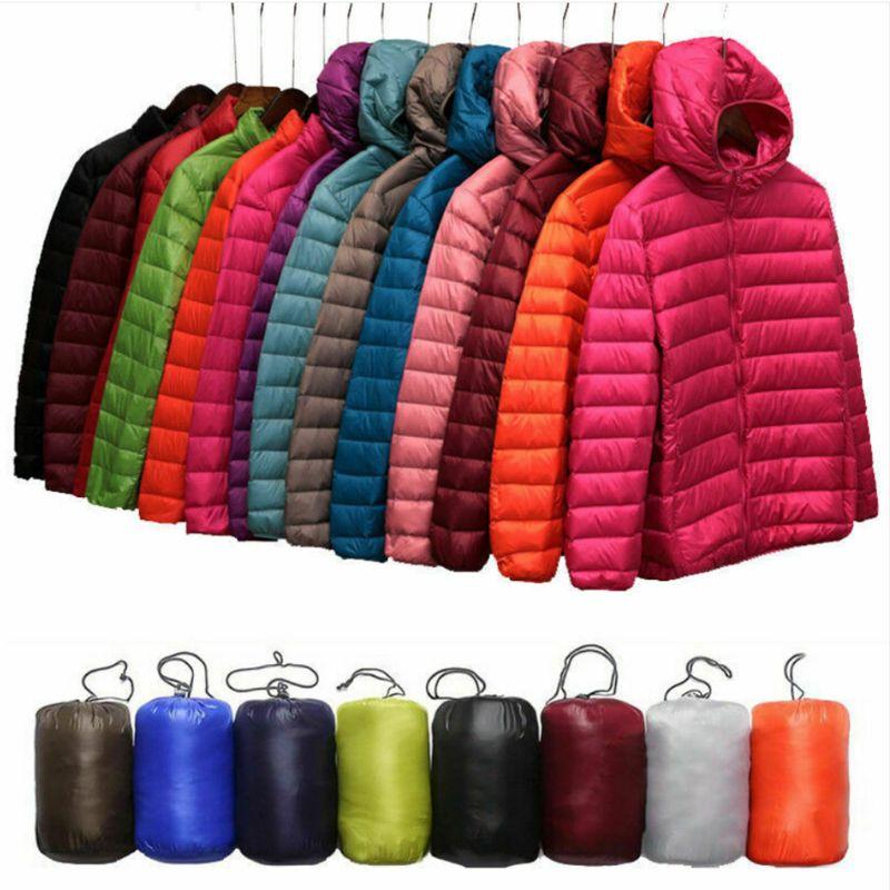 Uniqlo Style Women's Duck Down Lightweight Jacket Winter Outerwear Coat Puffer