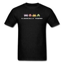 Camisetas clásicas entrenadas para juegos de Playstation, camisetas de ordenador Android Videogame PC para niños, 100% tela de algodón con cuello redondo