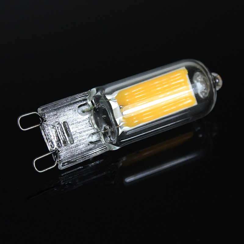 Ampoule Glass G9 6W 9W 12W No Flicker LED COB Bulb 220V Light Home Chandelier Spotlight Replace 25W 45W Halogen Lamps Bombillas