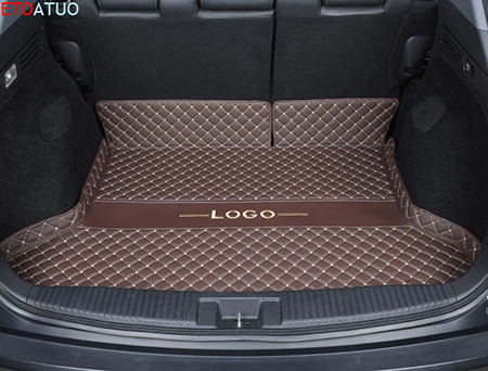 Car Trunk Mat Tail Boot Tray Auto Floor Liner Cargo Carpet Luggage Mud Pad Accessories Fit For <font><b>Peugeot</b></font> <font><b>4008</b></font> <font><b>2016</b></font> 2017 18 2019 image