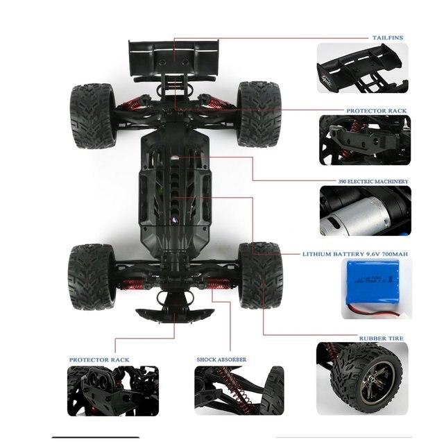 9116 1:12 RC Car Brushed Motors Drive Bigfoot Car 4WD Driving Truck Cars Remote Control Car Model Off-Road Vehicle Toy 3