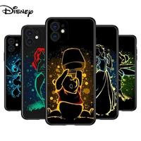 Cubierta de silicona Elsa Ariel Princesa para Apple IPhone 12 Mini 11 Pro XS MAX XR 8X8 7 6S 6 Plus 5S caso además de caso de teléfono IPhone