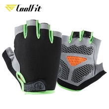CoolFit New Cycling Anti-slip Anti-sweat Men Women Half Finger Gloves Breathable Anti-shock Sports Gloves Bike Bicycle Glove cheap CN(Origin) Polyester Universal YQ301 Washable Gloves Mittens Cycling Bike Gloves S M L XL 8 Colors Cycling Riding Bike Weightlifting Running Fishing Etc