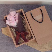 Фестиваль мыло цветок Креативный красивый ручной работы мыло роза цветок коробка твердый переплет подарки на день рождения девочка мама День Матери