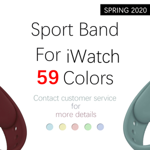 Silicone strap For Apple Watch band 38mm 42mm iwatch 5 Band 44mm 40mm Sport bracelet Rubber watchband for iwatch 4 3 2 1(China)