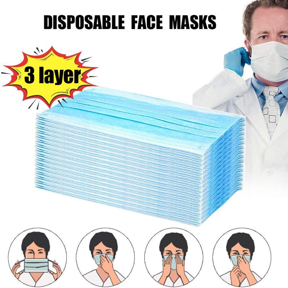 Dhl 50PCS Masks Earloop Face Mouth Masks Protective Mascarillas De Carbon Mascherine Mouth Ffp3 Maska N95 Masque Surgical